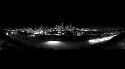 Calgary Downtown Skyline at Night