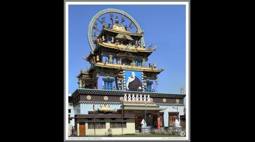 Pagoda at Nyingmapa Tibetan Monastery, Bylakuppe, Kodagu, Karnataka, India