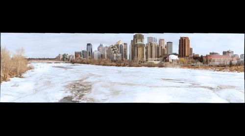 Calgary over the Bow River