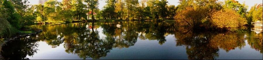 Freshwater Pond in Autumn, Public Gardens, Halifax, Nova Scotia, Canada