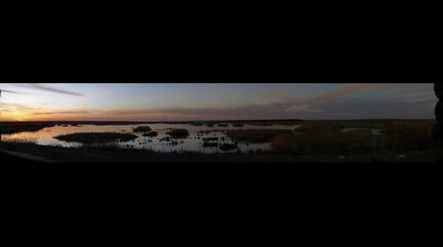 Atrdecer en la laguna de Alcazar de San Juan
