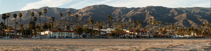 Santa Barbara from the Beach