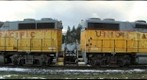 Train locomotives at Springfield, Oregon
