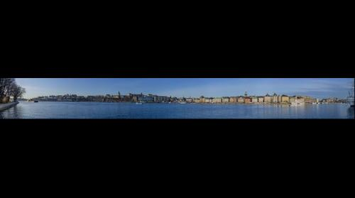 Stockholm panoramic view of Gamla Stan and Södermalm