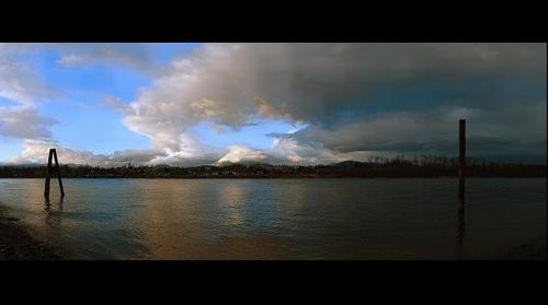 Golden Ears and Fraser River