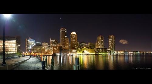 Boston Skyline from Fan Pier, Boston, Massachusetts