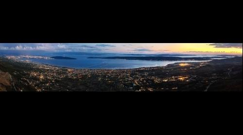 Gigapan of Kastela and Split in Croatia, with Central Dalmatian islands