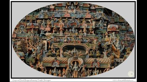 Gopuram Detail, Srirangam