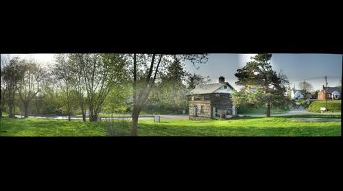 Greenock Log House from the corner