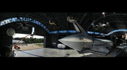 Space Shuttle Discovery in Museum Hangar