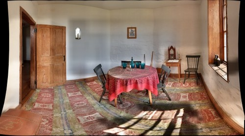 Another room inside the historic stone house