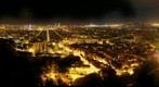 Barcelona night from antiaircraft battery of Carmel