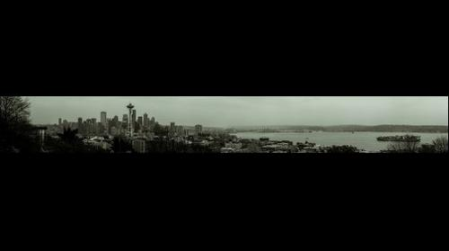 Seattle in Black and White from Kerry Park