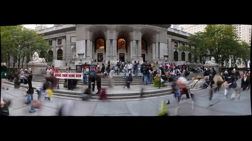 New York Public Library front steps - October 8, 2008