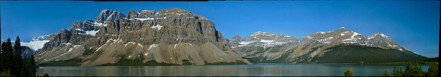Bow Lake, Crowfoot Mountain, Banff National Park, Alberta
