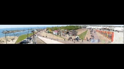 Panorámica de Parque en Feria de Abril