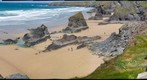 The Bedruthan Steps, Cornwall, England