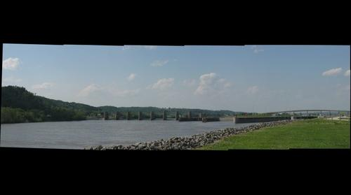 Another shot of the Ohio River Lock and Dam, Mason County WV