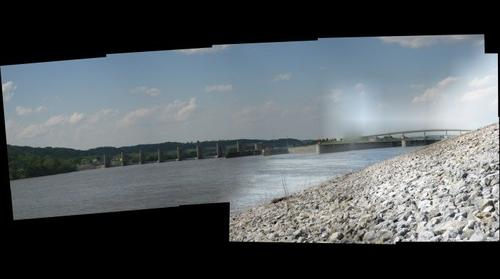 First attempt gigapanning the Ohio River, Mason County WV