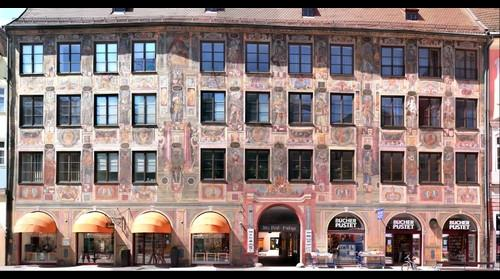 Alte Post building in Landshut Bavaria Germany
