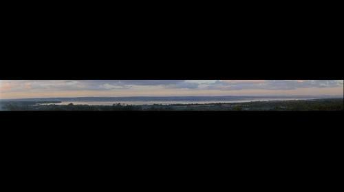 Superluna sobre el Lago Ypacaraí