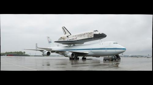 Space Shuttle Discovery Atop SCA at Dulles Airport (#2)