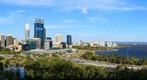 Perth Skyline from Kings Park Viewing Platform, Jan 3, 2012 at 6:20pm