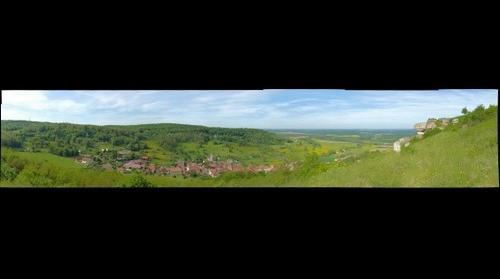 Village de Chariez depuis le camp de César (70)