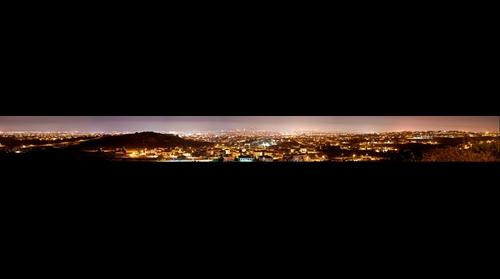 Limassol at night-panorama