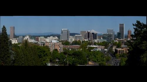 Downtown PDX from Suicide Bridge (Vista Street)