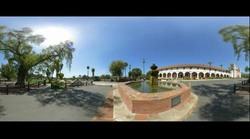 Santa Barbara Mission with Fountain