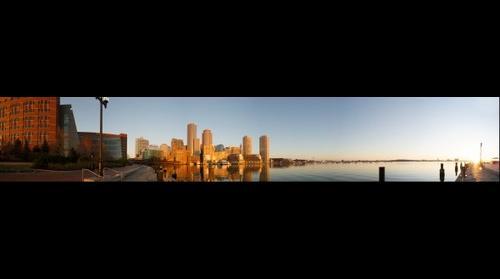 Boston Skyline From Fan Pier Panorama