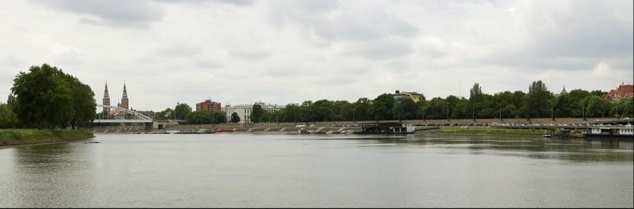 Szeged panorámája a Tiszáról