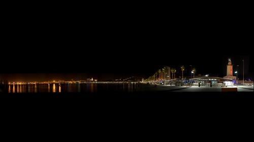 Málaga de noche