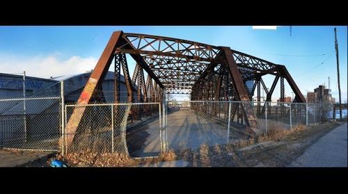 Eastern Avenue bridge over the Don River, Toronto Canada