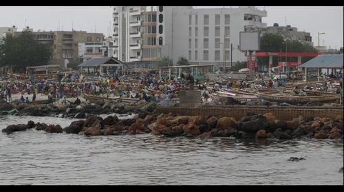 View of Dakar's Soumbedioune Fish Market, Senegal Africa