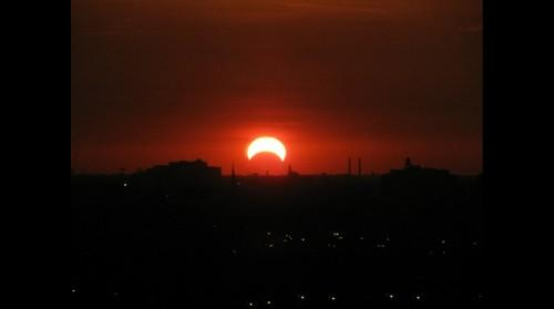 Solar Eclipse Sunset 20May2012
