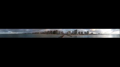 Fortaleza shore from a breakwater