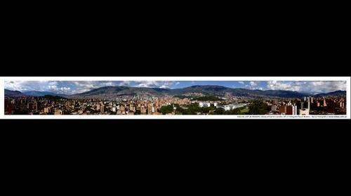Vista de 220º desde el barrio Laureles, Medellín, Colombia, Suramérica. 2012