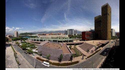 Vista desde la Plaza de la Libertad, Medellín, Antioquia, Colombia, Suramérica. 2012