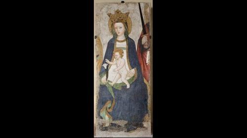 Madonna col Bambino, affresco pieve di Volpedo (AL -Italy)