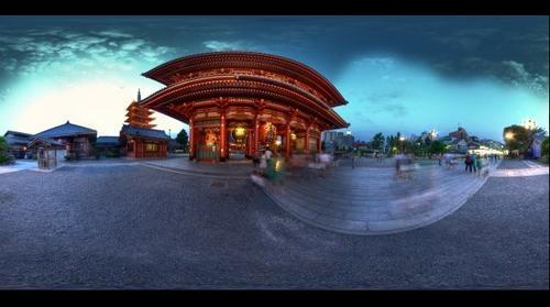 The Senso-ji temple, Asakusa