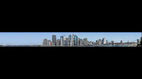 Manhattan Skyline from Brooklyn Heights, New York city (NYC)