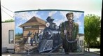 Sheriff Umbach Mural. Stony Plain, Alberta