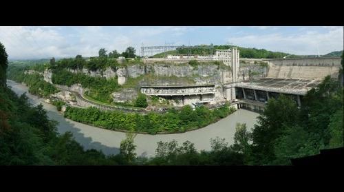 barrage de genissiat - vidange 2012