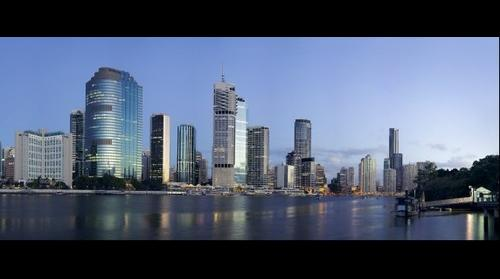 542.8 Megapixel view of Brisbane City Australia with a Phase One IQ180