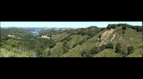 View of Briones Reservoir and University of California Leuschner Observatory