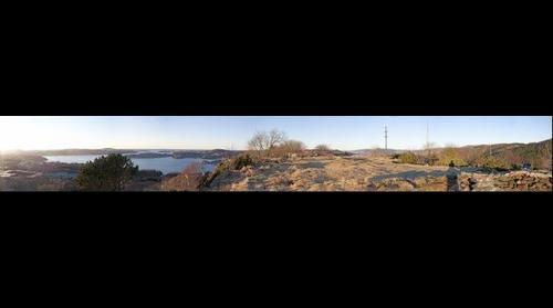 Panorama from Olsvik Battery, Bergen, Norway