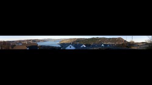 View over Byfjorden from Olsiv Battery