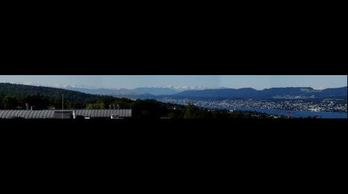Swiss Alps view from Zurich